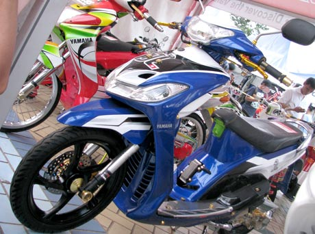 referensi modifikasi mio sporty warna biru