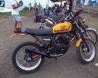 Scorpio Z modifikasi di Slidetober Fest kerjasama Yamaha dan Deus ex Machina Indonesia