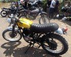 Scorpio Z modifikasi di Slidetober Fest kerjasama Yamaha dan Deus ex Machina Indonesia---