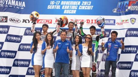 Podium YCR1 Race 2 (Richard Taroreh - Agus Setiawan - R Fadhil-