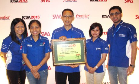 Yamaha Raih Indonesian Customer Satisfaction Award 2013