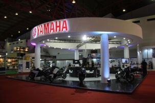 Booth Yamaha CBU DNA di Indonesia Japan Expo - JIExpo Kemayoran